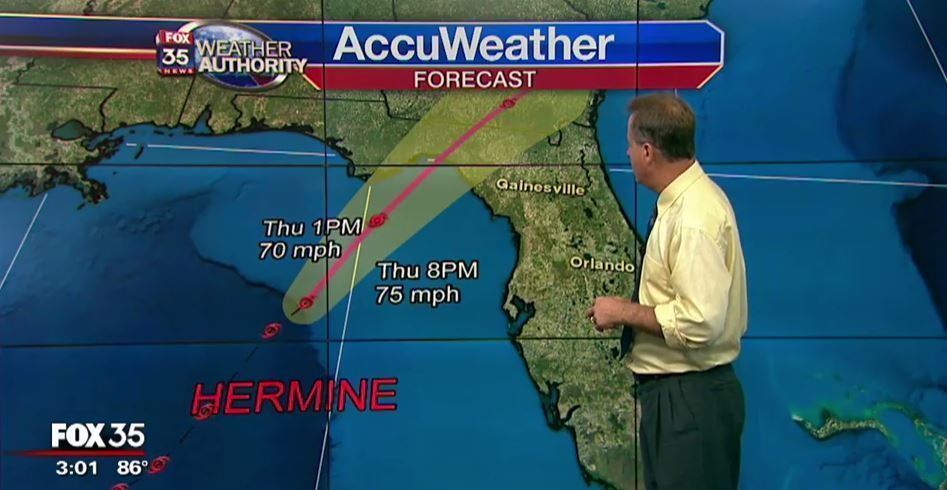 Hermine reaches hurricane strength, expected to hit Florida