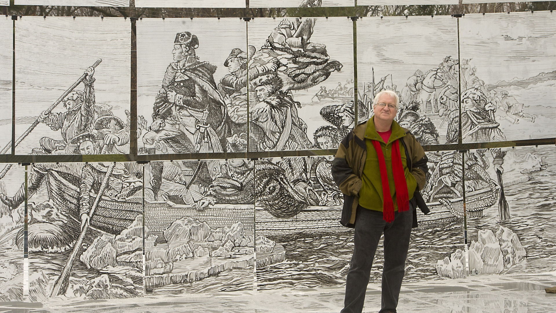 Valley Artist Remembers Washington S Crossing With Full Size