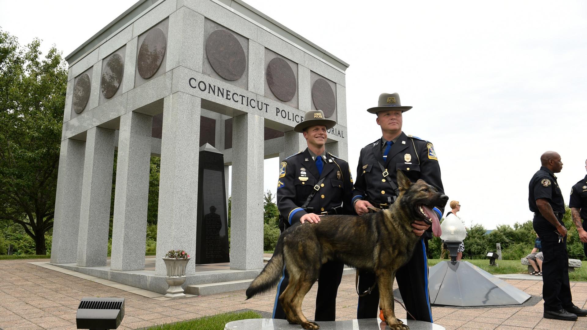 Connecticut State Police Graduates Seven K-9 Officers