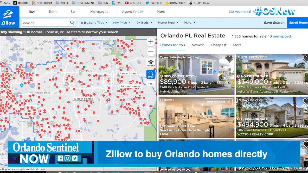 Zillow will start buying Orlando homes directly this year