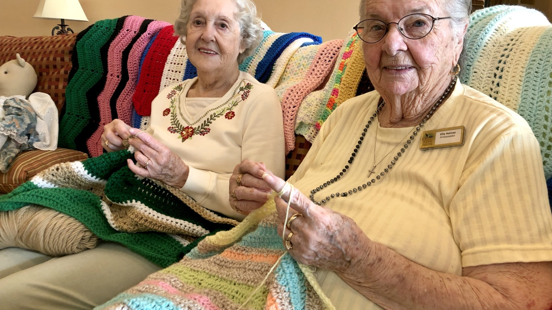 Osprey Lodge residents devoted to crocheting things for charity