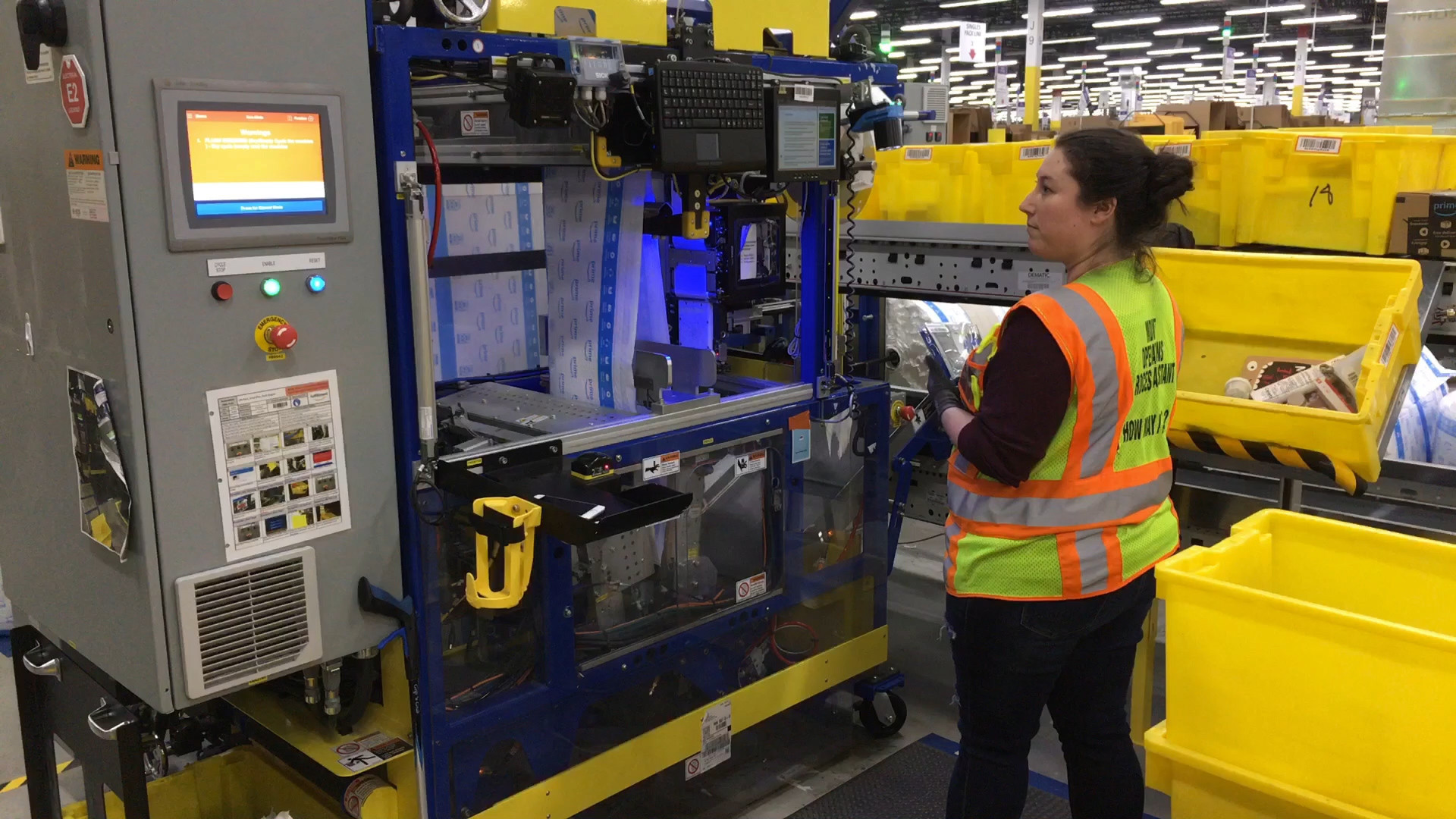 At Amazon's Monee warehouse, robot co-workers are the new