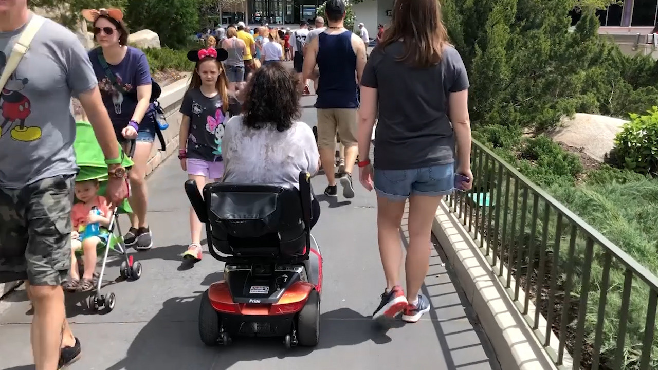 Scooters at packed Disney World parks spawn accidents
