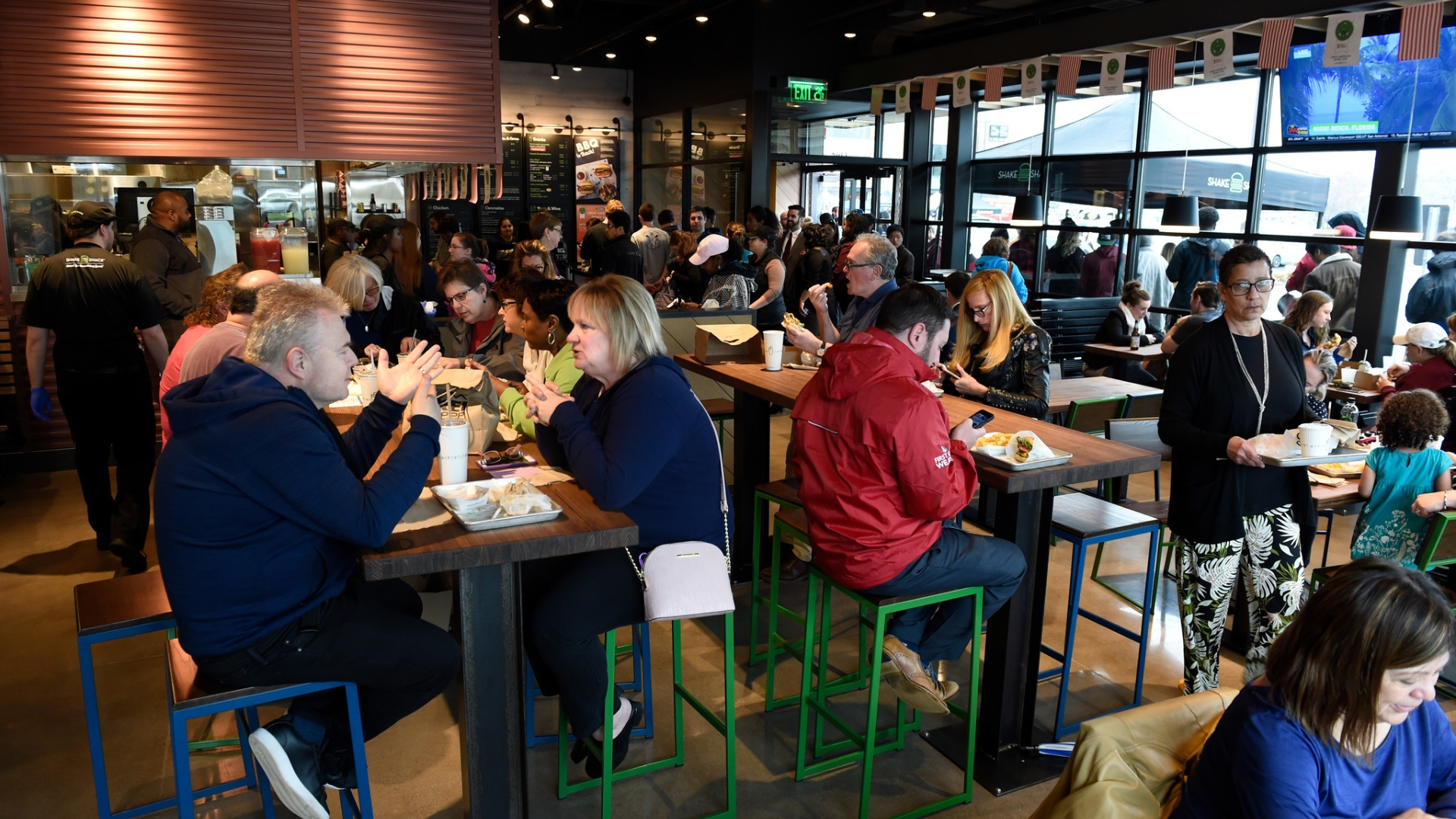 West Hartford Shake Shack Opens To A Large, Happy Crowd