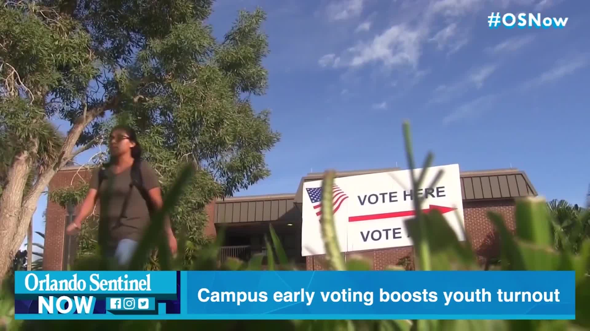 Campus early voting boosted youth turnout in Florida, but