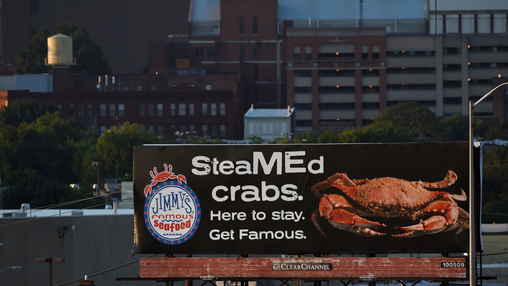 With Twitter and billboard, Jimmy's Famous Seafood wants to