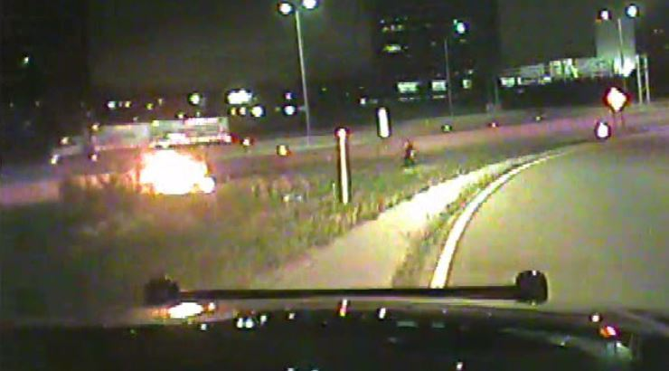 Oak Brook police pull Villa Park woman from burning car on