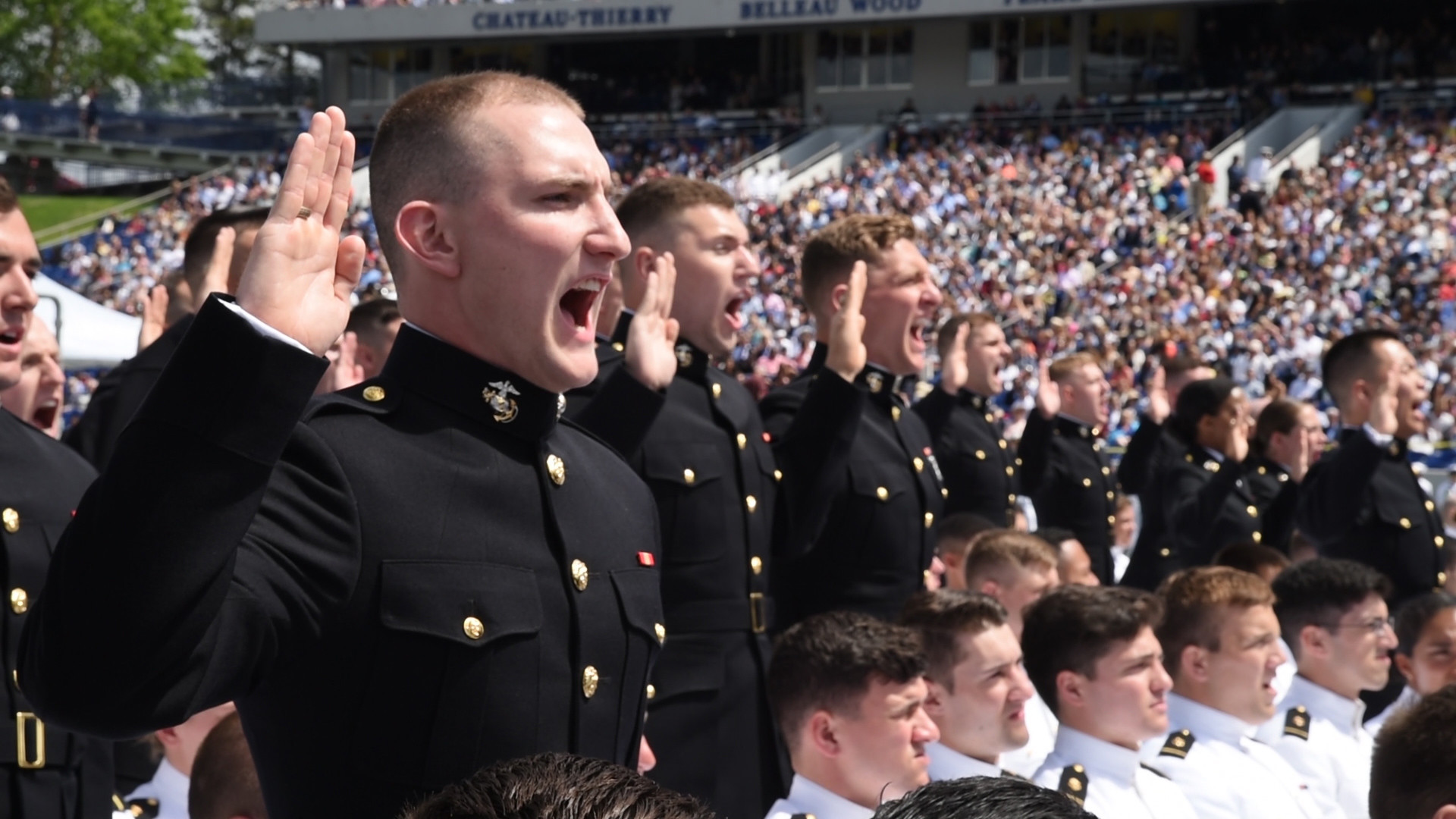 Presidents bring inspiration to Annapolis for the Naval Academy
